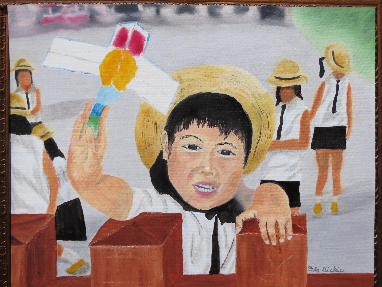 School child Nakamise arcade 5