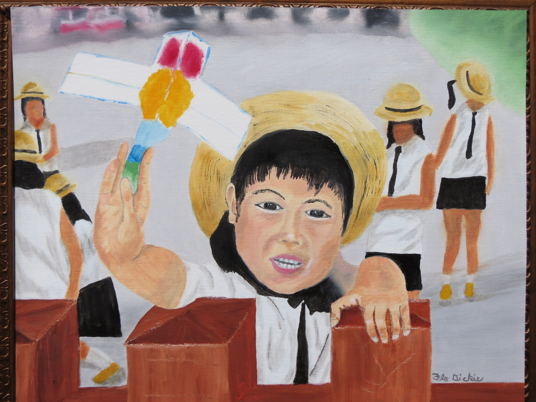 School child Nakamise arcade 5 - Flo Dickie