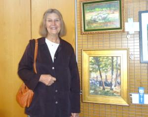 Joan Zawacki and her First Place  winner Weir Farm View